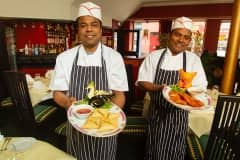 CR0014886  New Indian restaurant which is opening in Castle Street, Forfar Pic shows Tandoori Chef Tom Cuze(left) and Head Chef John Gregory ....Pic Paul Reid